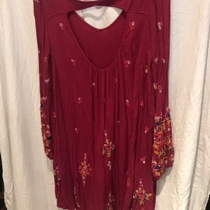 Free People Dresses - Free People peasant embroidered dress tunic